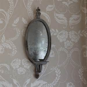 mirrored wall sconce with candle holder melody maison 174