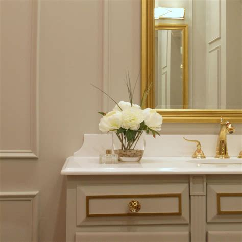 Photo Page Hgtv White And Gold Bathroom Ideas