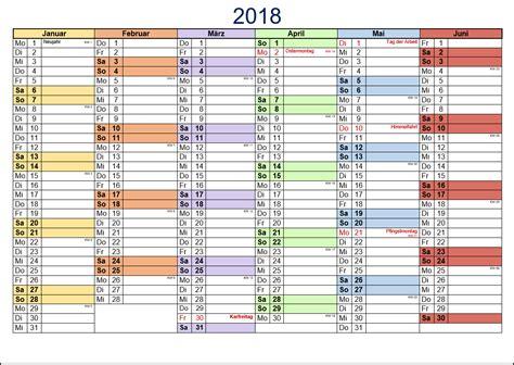 Kalender 2018 Bayern Halbjahr Kostenlose Kalendervorlagen 2018 Office Lernen