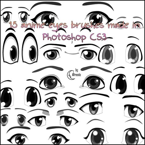printable how to draw eyes anime eyes brushes ps by coby17 on deviantart