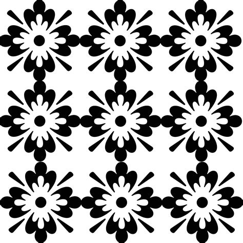 white pattern floral clip art black and white patterns www imgkid com the