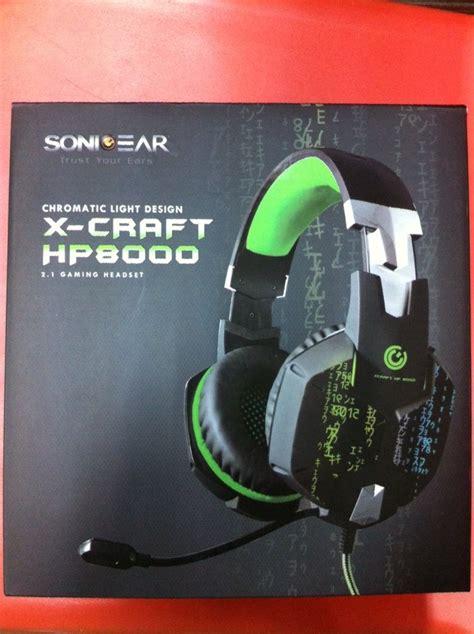 Diskon Sonic Gear X Craft Hp8000 jual beli headset gaming sonicgear x craft hp8000