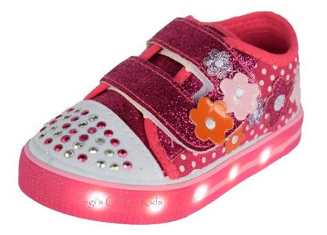 Led Shoes Glitter Pink baby toddler led light up canvas glitter tennis