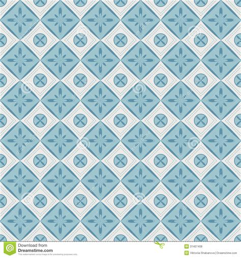 Hexagon Tile Kitchen Backsplash seamless pattern with geometric diamond shapes and flowers
