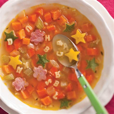 cuisine et recettes soupe alphabet au jambon et l 233 gumes recettes cuisine