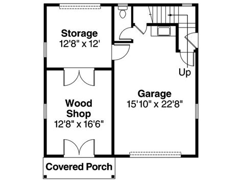 Garage Shop Floor Plans Garage Workshop Plans One Car Garage Workshop Plan With