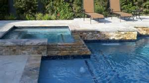 Spa Bathroom Decorating Ideas Pictures - raised travertine square spa traditional pool other by great escapes custom pools