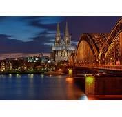 Bilder K&246ln Deutschland Br&252cken Nacht Flusse St&228dte