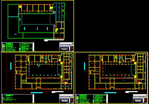 hystorical building electric installation dwg block for