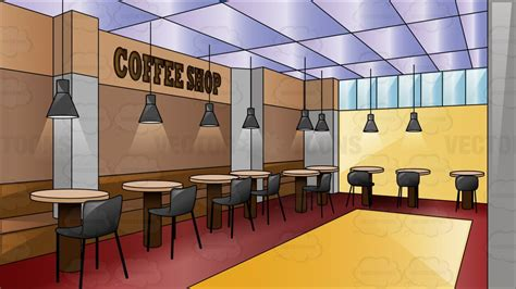 cafe interior design vector a swanky coffee shop cartoon clipart vector toons