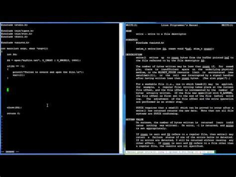 tutorial linux c c programming in linux tutorial 024 open read write