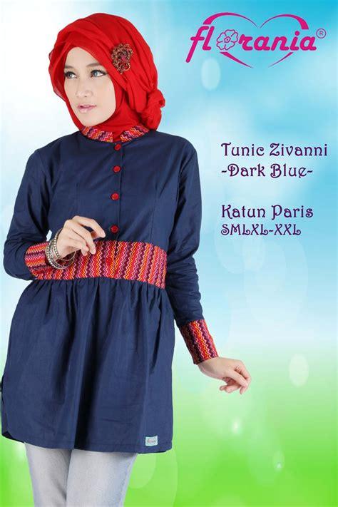 Fariza Tunik Katun 2 Warna jual tunik zivanni katun blus modis terbaru