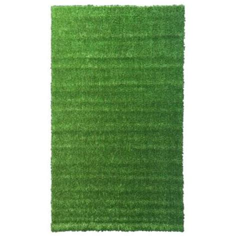 grass rug home depot ottomanson garden grass collection 3 ft 11 in x 6 ft 6 in artificial grass synthetic lawn
