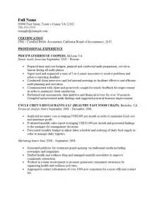 Cpa Resume Templates by Free Certified Accountant Cpa Resume Template