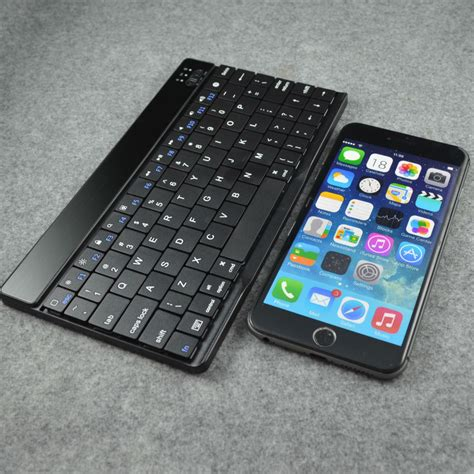 free shipping 8 quot wireless bluetooth qwerty keyboard for iphone 6 plus in keyboards from computer