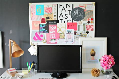 Laptop Desk White Project Office Inspiration Board And Desk Update