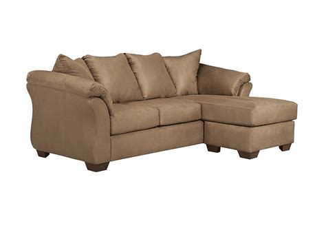 darcy mocha sofa chaise overstock warehouse