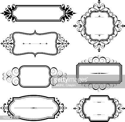 cornici vintage vintage frames with scrolls arte vectorial getty images