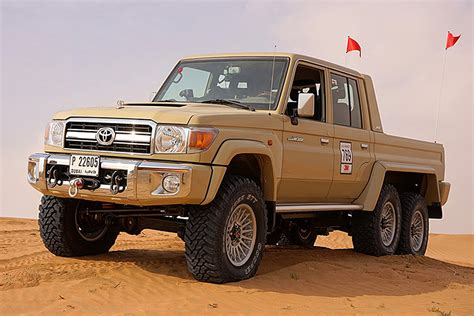 military land cruiser this 6x6 toyota land cruiser is a dune crushing monster