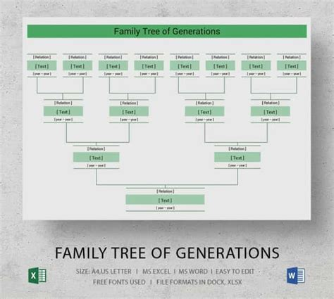 excel family tree template simple family tree template 25 free word excel pdf
