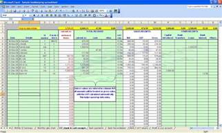 Account Sheet Template by Accounting Bookkeeping Spreadsheets Templates Demo