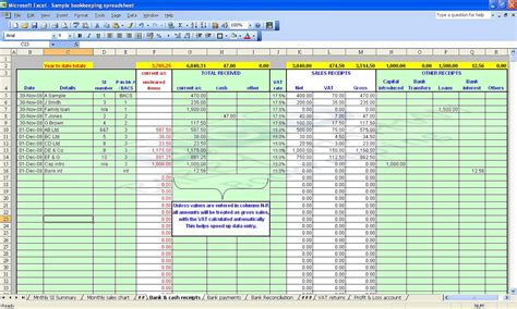 Spreadsheet Accounts Template accounting bookkeeping spreadsheets templates demo