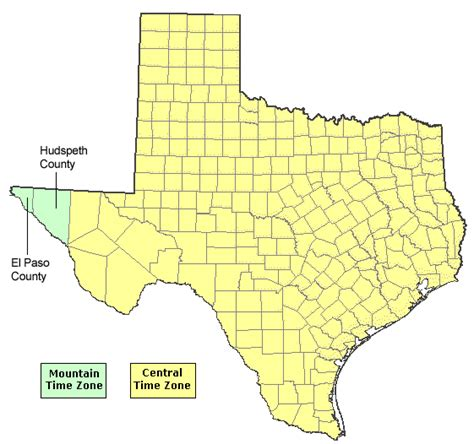 time zone map texas texas time zone