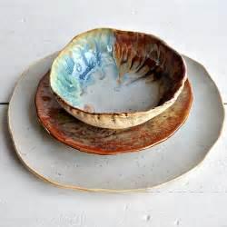 Handmade Stoneware Pottery - 4 river journey 3 sets