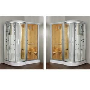 doccia con sauna e bagno turco box doccia idromassaggio 168x95cm con sauna e cromoterapia vi