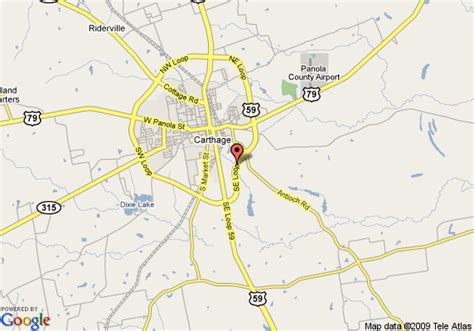 map of carthage texas map of inn express carthage carthage