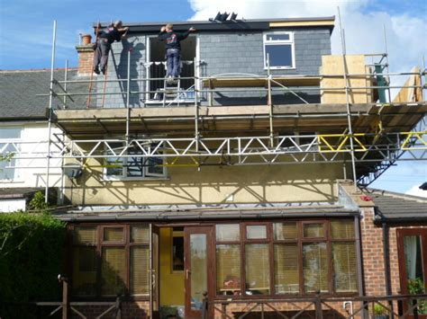 3 bedroom house loft conversion constructing a rear dormer window on this sheffield loft conversion loft conversions