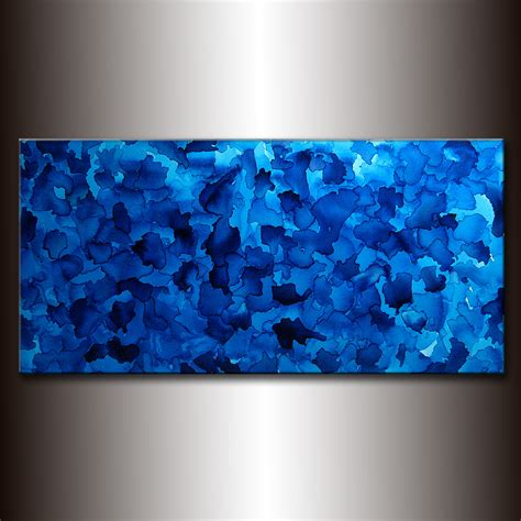 blue paintings paintings originals for sale original large blue abstract painting modern