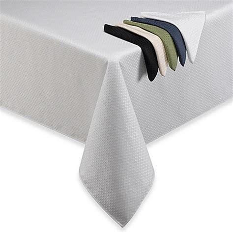 bed bath and beyond tablecloth mckenna microfiber tablecloth and napkins bed bath beyond