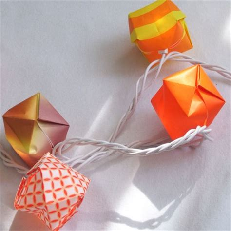 Origami Lights - diy origami balloon lights