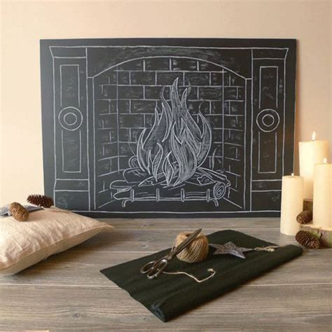 diy chalkboard fireplace how to design a faux fireplace for s day homeyou