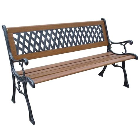 parkland heritage mesh resin patio park bench slp408br