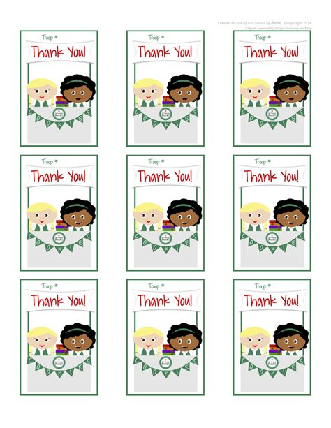 printable thank you cards girl scouts my fashionable designs girl scouts juniors thank you