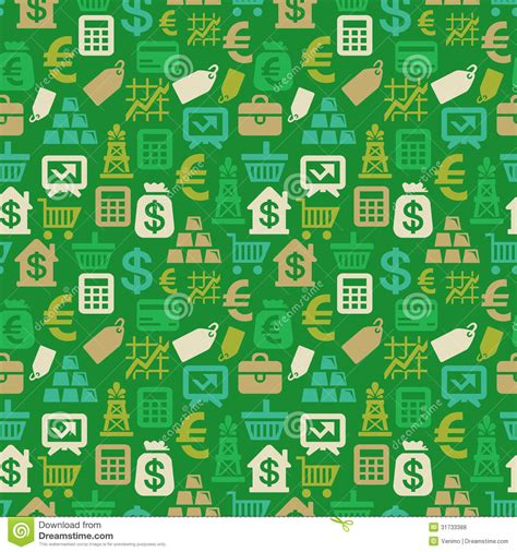 vector pattern money vector seamless pattern with finance icons royalty free