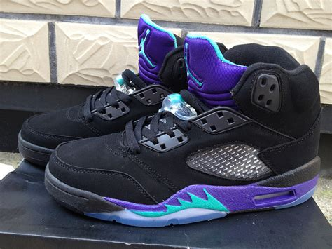purple jordans shoes genuine nike air 5 shoes s black purple for cheap