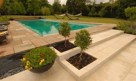 englefield green contemporary terraced patio gardens
