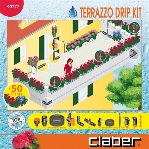 impianto irrigazione terrazzo kit impianto irrigazione a goccia per aiuole e terrazzo