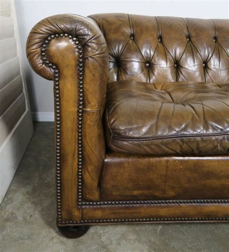 Chesterfield Style Sofa Sale Tufted Leather Chesterfield Style Sofa 1930s For Sale At 1stdibs