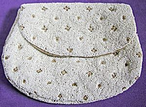 Glass Clutch Stitch Friends vintage white beaded clutch s bags hats purses