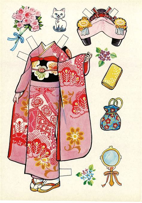 How To Make Japanese Paper Dolls - japanese paper doll furisode