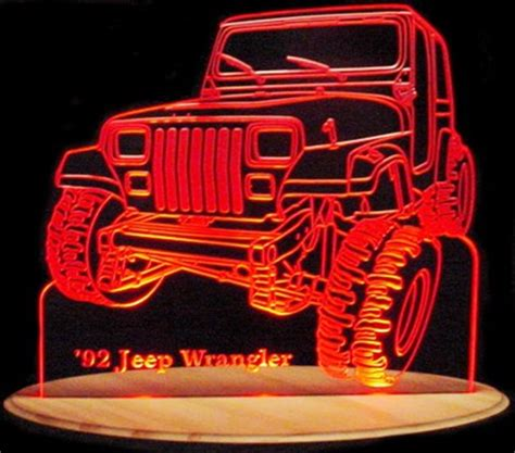 Signal L Jeep Ms 268 1992 jeep wrangler acrylic lighted edge lit led suv truck sign light up plaque size usa