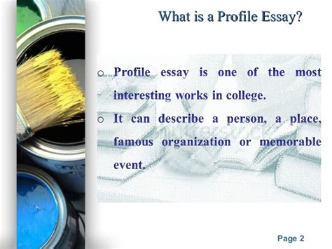 What Is A Profile Essay by What Is A Profile Essay