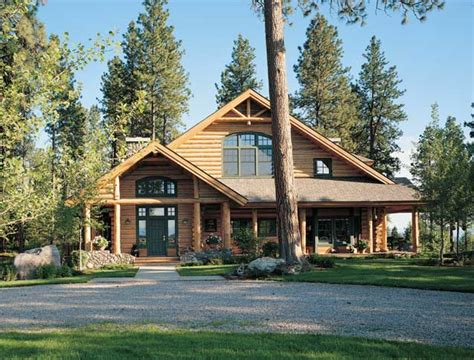 alpine log homes glacier view log home