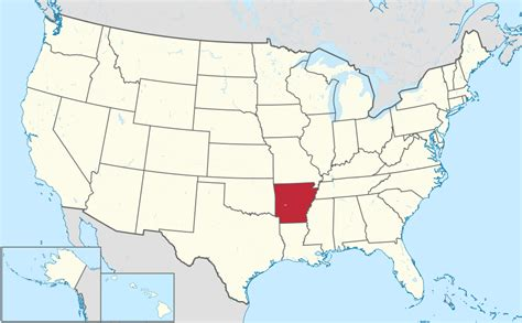 arkansas on the map of usa file arkansas in united states svg wikimedia commons