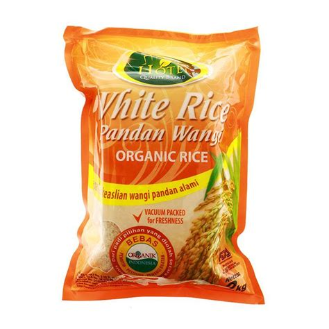Beras Organik Mentik Wangi 2 Kg jual hotel white rice pandan wangi organik beras putih 2 kg harga kualitas terjamin