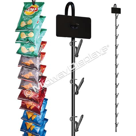 photo display clips black metal hanging clipper merchandiser made in usa midway displays inc
